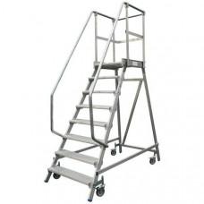 Односторонняя передвижная лестница с платформой KRAUSE STABILO 820167