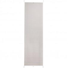 Штора плиссе «Плайн», 35х160 см, текстиль, цвет серый в Алматы