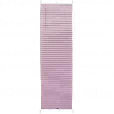 Штора плиссе «Плайн», 40х160 см, текстиль, цвет сиреневый в Алматы