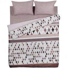 Комплект постельного белья Василиса Территория уюта двуспальный бязь коричневый в Алматы