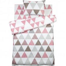Комплект постельного белья Lahti полутораспальный сатин цвет розовый/серый в Алматы