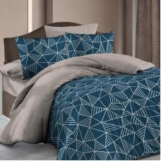 Комплект постельного белья «Декор» полутораспальный бязь цвет синий в Алматы