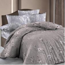Комплект постельного белья «Нежная магнолия» полутораспальный бязь цвет бежевый в Алматы