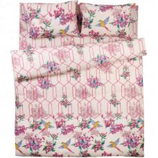 Комплект постельного белья Apple двуспальный бязь цвет розовый в Алматы