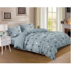 Комплект постельного белья «Сканди» евро сатин серый в Алматы