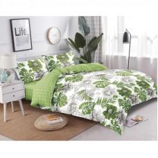 Комплект постельного белья «Тропик» евро сатин зелёный в Алматы