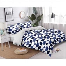 Комплект постельного белья «Техно» полутораспальный сатин синий в Алматы