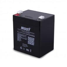 Аккумулятор MUST 12V/4,5Ah (90x70x101mm)