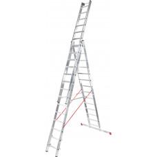 Лестница алюминиевая трёхсекционная индустриальная, 3х12