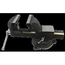 Тиски стальные поворотные с наковальней и съемными губками ROCKFORCE RF-6540607  в Алматы
